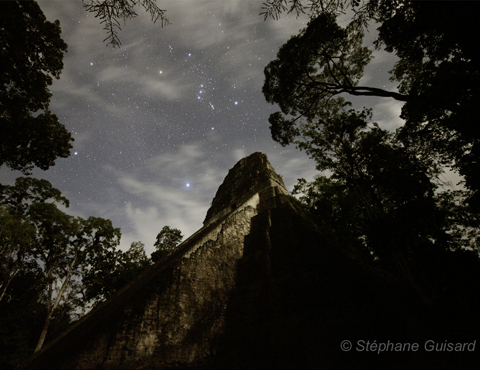 Le temple Tikal, photographié par Stéphane Guisard