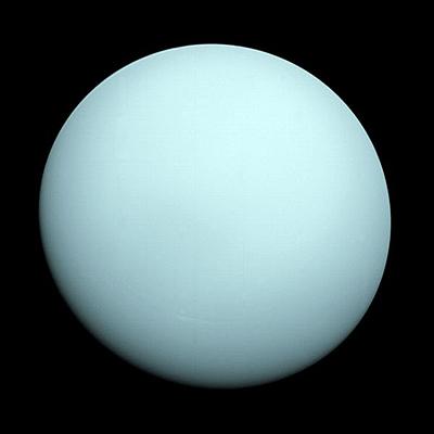 Uranus par Voyager 2. Crédit : Nasa