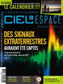 Magazine Ciel et Espace janvier 2011:Des signaux extra-terrestres enfin captés ? Cieletespace488