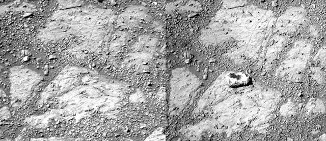 Mars : La roche martienne venue de nulle part Cailloumars